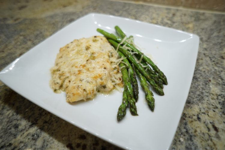 Garlic Parmesian Baked Grouper
